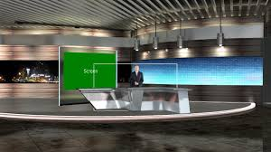 modern anchor desk virtual set datavideo virtualset