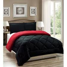 Red And Black Comforter Sets Full Legacy Decor 3pc Down Alternative Red And Black Reversible