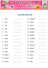 Free Printable Halloween Word Scramble by Free Word Scrambles Worksheets Activity Shelter
