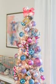 pink christmas tree colorful christmas tree the southern style guide