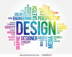 word design design word cloud collage creative business stock vector 549886417