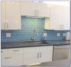 Blue Glass Kitchen Backsplash Blue Glass Tile Backsplash Home Designs Idea