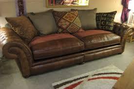 Fabric Or Leather Sofa Fabric Or Leather Sofas Www Energywarden Net