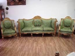 poltrone salotto salotto luigi xvi divano e 4 poltrone in legno intagliato e