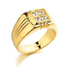 gold ring images for men hot sale men gold ring aaa zircon fashion jewelry rings plated 18k