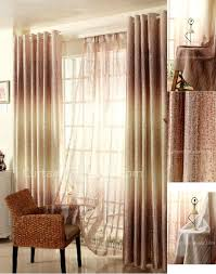 window curtains in gold color of ombre visual feeling