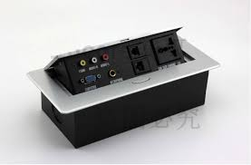 built in desk power and data distribution outlet unit modular