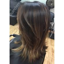 medium short length hair cut with layers balayage ombré hair