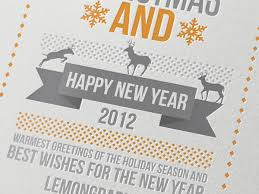 new year card design merry christmas and a happy new year lemon graphic singapore