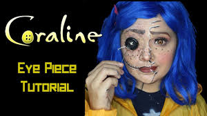 halloween cartoon makeup coraline halloween makeup tutorial eye piece tutorial youtube