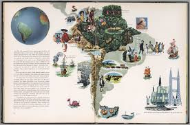 south america map buy south america continues pictorial map david rumsey historical
