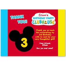 mickey mouse thank you cards mickey mouse inspired thank you cards