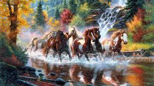 Western Wallpaper Border 7 Running Horses Wallpaper