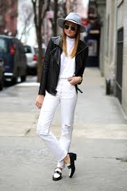 casual for fall how to style your white jeans