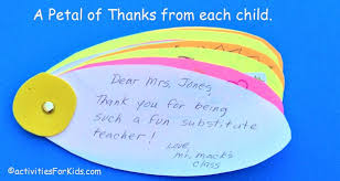 thank you cards for teachers classroom thank you card flower kids write individual thank you notes