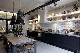 cuisine style usine cuisine style indus tendance duo de couleurs noir et blanc black