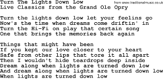 lights down low guitar chords turn the lights down low by marty robbins lyrics