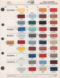 paint chips 1980 toyota celica