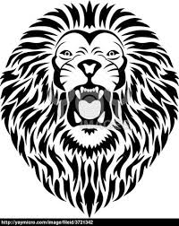 stock vector lion tribal tattoo style photo 6 real photo