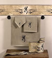 Bathroom Towel Sets by Browning Buckmark Towel Set U0026 Wall Paper Border Cabin Place