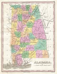 Alabama State Map File 1827 Finley Map Of Alabama Geographicus Alabama Finley