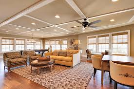low ceiling using recessed lights and ceiling fan for traditional