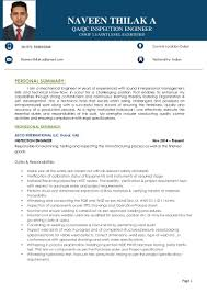 Qa Qc Engineer Resume Sample by Qc Inspector Resume Resume For Your Job Application