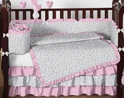 Cheetah Print Crib Bedding Pink Animal Nursery Bedding Bedding Designs