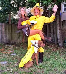 party city halloween costumes for dogs curious george the man in the yellow hat and bananas couple