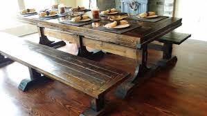 farm tables with benches real wood dining table review homesfeed