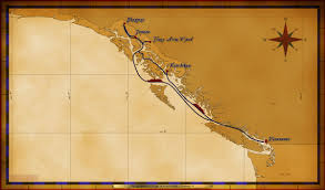 Ketchikan Alaska Map by Personal Navigators 7 Night Alaskan Cruise Itinerary A June 1