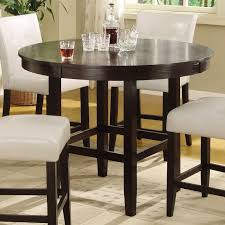 Round Dining Sets Bossa 48 In Round Counter Height Dining Table Dark Chocolate