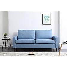 Track Arm Sofa Amazon Com Nhi Express 71029 63bl Track Arm Sofa Blue Kitchen