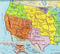 usa map louisiana purchase 1803 1850 expansion of the usa to the pacific
