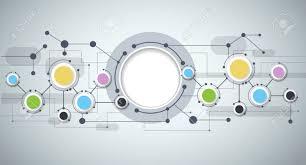 imagenes abstractas con circulos moléculas abstractas y tecnología de la comunicación con los