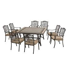 Legacy Dining Room Set by Sunjoy Legacy 9 Piece Patio Dining Set With Beige Cushions