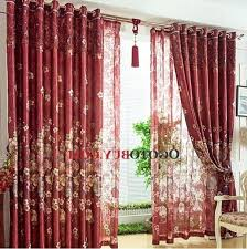 Burgundy Curtains For Living Room Burgundy Curtains With Valance U2013 Teawing Co