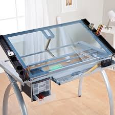 Plan Hold Drafting Table Adjustable Drawing And Drafting Table With Black Frame And Dual