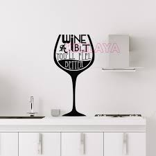 stikers cuisine stickers cuisine vinyl wall sticker wall decals wine a bit wineglass