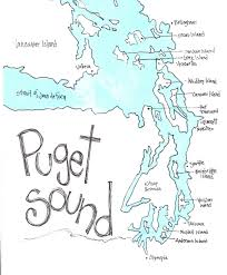 Sound Map Puget Sound Map Northwest Gift Washington Gift Washington