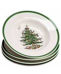 spode dinnerware set of 4 tree soup bowls