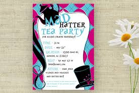 free printable bridal shower tea party invitations party invitations stylish mad hatter tea party invitations ideas
