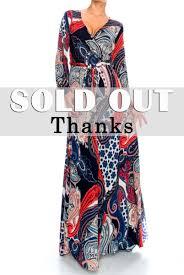 persian paisley long closed cuff sleeve maxi wrap dress red