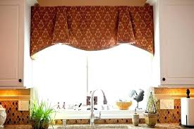 kitchen window valances ideas bay window valance ideas inoweb info