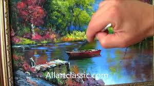 beautiful river landscape painting youtube