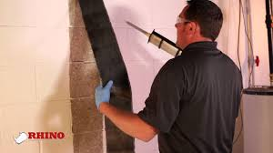 how to repair a bowing basement wall by rhino carbon fiber youtube