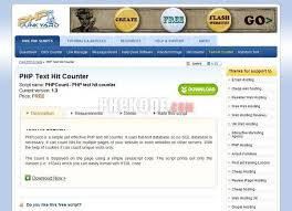 Count Pages In Php Scripts Phpcount Php Text Hit Counter For Counter Free Php Counter Text