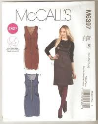 mccall u0027s pattern 6397 misses women u0027s jumper dress zip front