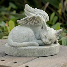 Cat Garden Decor Garden Decor Hand Carved Wooden Cat Sculpture Stone Carving Cat