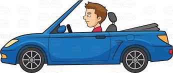 cartoon convertible car a man driving a sports convertible car cartoon clipart vector toons